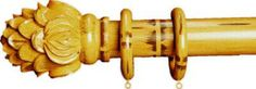 Finestra Royal Crest Shown in Natural Bamboo Bamboo Curtain Rods