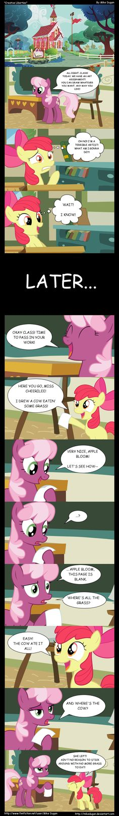 MLP Comic - Creative Liberties by MikeDugan.deviantart.com on @deviantART
