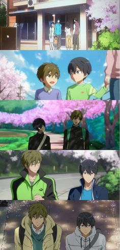 MakoHaru ♡ Makoto Tachibana x Haruka Nanase (Free! Dive to the Future and High☆Speed! Handsome Anime Guys, Cute Anime Guys, Anime Love, Nagisa, Makoto Tachibana, Fun Facts About Animals, Animal Facts, Free Makoto, Rin Matsuoka