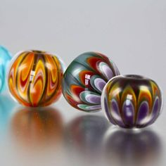 Lampwork Art Glass Beads   Jewellery   Ring Toppers