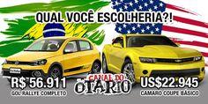 Qual carro amarelo vc prefere?!