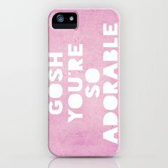 Gosh, Adorable iPhone Case