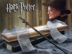 Minerva McGonagall's Wand. It was made of: Fir 9 1/2 inches long with Dragon Heartstring, which was stiff.
