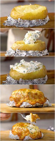 Batata Recheada: A melhor que você vai encontrar! DELICIOSA! (veja a receita passo a passo)3 #batata #batatarecheada #tastemade