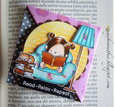 Bookmark Craft, Bookmarks, Holly Hobbie, Mft Stamps, Reading Time, Doodle Art, Cardmaking, Paper Art, Arts And Crafts