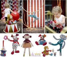"Peluches ""Magic Circus"" http://www.mamidecora.com/regalos_ebulobo-peluches.htm"