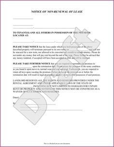 Eviction Notice Forms & Legal Eviction Warnings