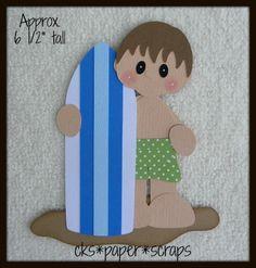 Surfboard Surfing BOY Kid Scrapbook Paper Piecing