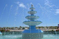 Water fountain in Bradley Beach, New Jersey
