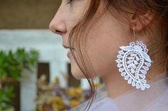Crochet Earrings, Drop Earrings, Jewelry, Fashion, Jewellery Making, Moda, Jewerly, Jewelery, Fashion Styles