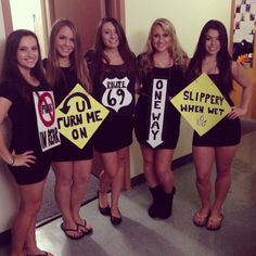 "halloween costumes ideas runningwithmascaraeyes: "" #College #halloween #roadsigns """