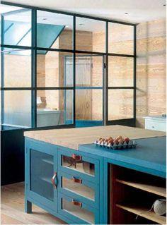 plain english kitchen, dark, victorian colours, shaker, timber countertop, timber floor, practical.
