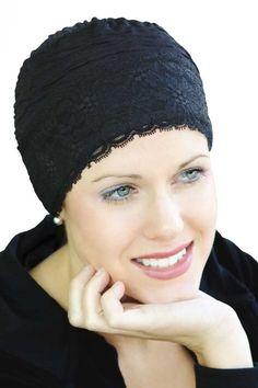 1ceda246410e0 Chic turban for womens hair loss. This pretty hat for hair loss is a ...