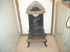 GAS POT BELLY STOVE - CO-OPERATIVE STOVE CO. - GRAND MODEL
