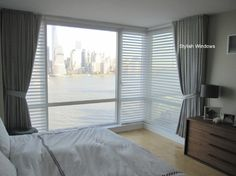 2 Second street, Jersey City, NJ - modern - Bedroom - New York - Stylish Window treatments Window Treatments, Decor, Modern Bedroom, Ripple Fold Drapes, Curtains, Modern, Bedroom, Home Decor, Drapes