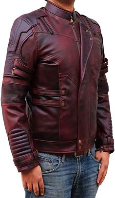 Choosing The Right Men's Leather Jackets. A leather coat is a must for every single guy's closet and is also an excellent method to express his personal design. Leather coats never ever head Men's Leather Jacket, Leather Men, Red Leather, Leather Jackets, Maroon Jacket, Revival Clothing, Men Closet, Cool Jackets, Jacket Style