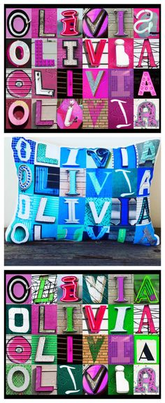 OLIVIA name posters and decorative pillows make amazing gifts for tweens, teens, kids or anyone!