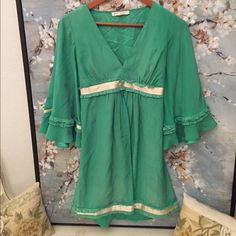 Betsy Johnson dress Tie back dress tunic by Betsy! Discoloration and marks as pictured Betsey Johnson Dresses
