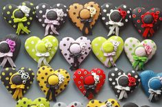 Polymer Clay Heart Hats