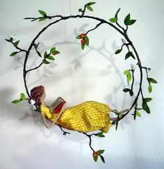 embroidery hoop base idea