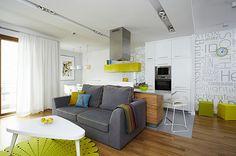 salon +cocina integrados