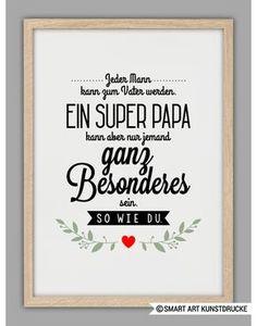 """Originaldruck - """"SUPERPAPA"""" Kunstdruck, Vatertag Geschenk - ein Designerstück von Smart-Art-Kunstdrucke bei DaWanda"""