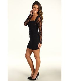Tbags Los Angeles Long Sleeve Lace Dress Black - Zappos.com Free Shipping BOTH Ways