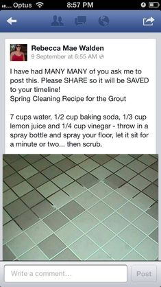 Cleaning floor recipe concoction spray spring cleaning