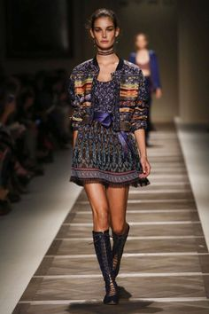 Veronica Etro is on a bit of a roll. This season, the designer captured the l'air du temps with a collection that brought a romantic femininity back onto her family brand's catwalk. But unlike othe...