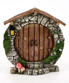 Look what I found on #zulily! Charming Round Fairy Door Décor #zulilyfinds