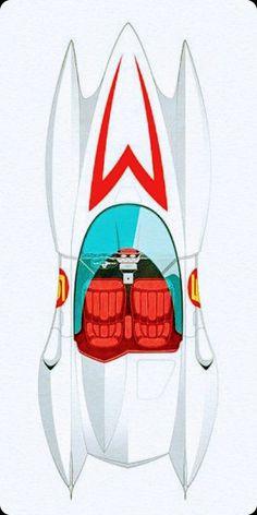 Retro Cartoons, Classic Cartoons, Cool Cartoons, Desenhos Hanna Barbera, Cool Car Drawings, Speed Racer, Classy Cars, Futuristic Cars, Vintage Racing