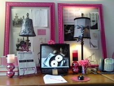 I'm going to be making a office space for myself at home and I have to say I love this idea...and I love pink! This is by The Office Stylist...she's got a great blog to boot!