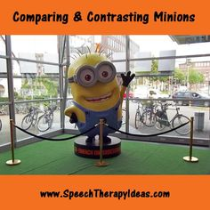 A Not-So-Despicable Comparing Activity: Free language therapy idea for comparing and contrasting Despicable Me minions!