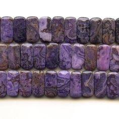 Dakota Stones 10x20mm Double Drilled Purple Crazy Lace Agate Gemstone Beads