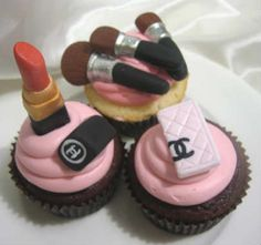 Chanel makeup cupcakes cupcake creative party desserts treats sweets