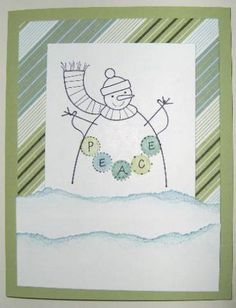 Peaceful Snowman by rheal - Cards and Paper Crafts at Splitcoaststampers Stamping Up, Snowman, Paper Crafts, Peace, Scrapbook, Simple, Artist, Cards, Tissue Paper Crafts