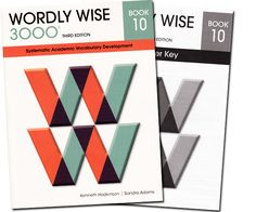 """Wordly Wise 3000 Book 10 & Teacher's Key 340-35 • Each workbook introduces 300 words. They incorporate interesting literary pieces and fascinating historical tales. Each lesson includes a series of five exercises.  Includes Wordly Wise 3000 consumable student workbook and non-consumable answer key.  Note: This workbook is part of an optional workbook series for those who want to supplement our """"natural"""" language-learning approach. It is scheduled in the Sonlight 300 Instructor's Guide."""