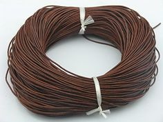 25 Yards 1.5mm Distressed Brown Soft Round Real Jewelry Leather Cord *** More info @ http://www.laminatepanel.com/store/25-yards-1-5mm-distressed-brown-soft-round-real-jewelry-leather-cord/?fg=270616173520