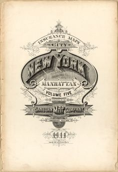 Designersgotoheaven.com by @andreirobu  BibliOdyssey made my day with some incredible lettering and typography examples.  Manhattan, New York 1911  Via Typeverything.com @typeverything