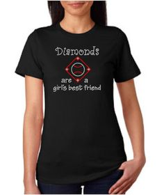 Rhinestone Diamonds are a girl's best friend by vinylartstudio, $20.00