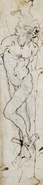 Study Of St. Sebastian, 1480-81 Giclee Print Poster by Leonardo Da Vinci Online On Sale at Wall Art Store – Posters-Print.com
