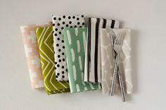30.Assorted Cloth Dinner Napkin Set by RetroMenagerie on Etsy, $96.00