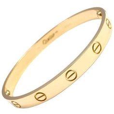 6c3d9d7df75 CARTIER Love Yellow Gold Bracelet Pulseras