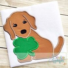 Dog Clover Applique - 4 Sizes! | What's New | Machine Embroidery Designs | SWAKembroidery.com Creative Appliques