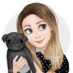 my favorite youtube beauty guru @zozeebo and her adorable pug nala!