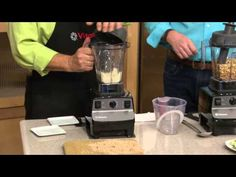 Vitamix 48 oz. 16-in-1 Variable Speed Blending System w/Dry Container with Carolyn Gracie - YouTube 1Hour - at about the 17 minute mark, they demonstrate the Dry Container and what you can do with it.