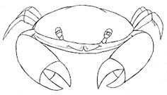 Image result for crab drawing