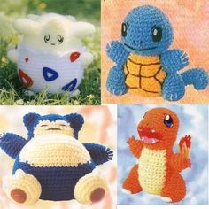 Pokemon crochet toys, this makes me want to crochet!