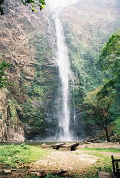 Wli Waterfalls, Volta Region, Ghana.  Highest waterfall in West Africa.