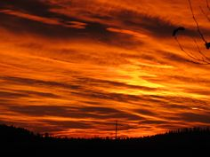 Incredible Sunset over the West Plains in Spokane County Washington